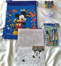 Disney Licensed Gift Set Backpack Coloring Book Stationery Stamper LED Bracelet