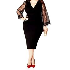 Party Mid Calf Evening Cocktail 3/4 Sleeve Womens Plus Size lace Dress UK 12-24