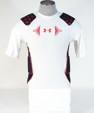 Under Armour MPZ Stealth White Padded Compression Football Shirt Men's NWT