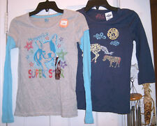 NEW OLD NAVY HORSE & SO KOHLS DOG T-SHIRT TOP LOT Size L 10-12 14 GIRLS NWT XMAS