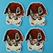 4 Mouse Animal Iron on Sew Patch Applique Badge Embroidered Motif Cute Craft Lot