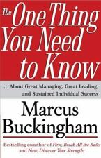 Marcus Buckingham~THE ONE THING YOU NEED TO KNOW~SIGNED 2ND(2)/DJ~NICE COPY