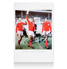Sir Geoff Hurst & Martin Peters signed England photo - 1966 Lap of Honour