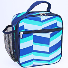 Blue Geometric Insulated Lunch Tote Bag