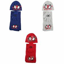 Childrens/Kids Spider Man Winter Hat Glove And Scarf Set