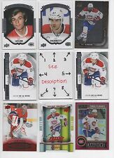 Montreal Canadiens #1 - Serial #'d - Rookies - AUTO - U-PICK - SEE LOT #2 **WOW*