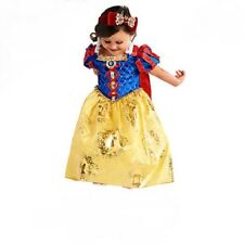 Deluxe~SNOW WHITE~COSTUME~DRESS + HEADBAND + RED CAPE~NWT~Disney Store~2017