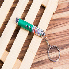 2 IN 1 LASER POINTER PEN FLASH MINI LED TORCH WITH KEYRING CAT TOY KIDS GIFT L∽
