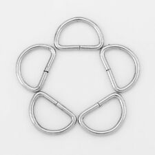 100pcs Metal Dee Rings For Webbing Strapping D Rings Different Size
