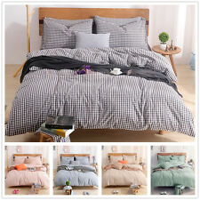 New Double/Queen/King Size Bed Quilt/Doona/Duvet Cover Set Cotton Fitted Sheets