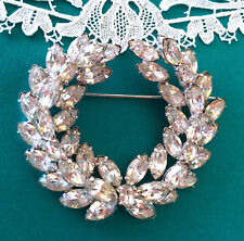 Excellent Signed CHRISTIAN DIOR by KRAMER Rhinestone Brooch Pin Vintage EVC!