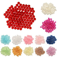 150x Colorful Freshwater Imitation Pearl No Hole Plastic Beads DIY Findings