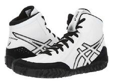 ASICS MENS AGGRESSOR 3 WHITE BLACK WRESTLING SHOES **FREE POST AUSTRALIA