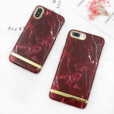 Ultra Thin Retro Marble Stone Hard PC Phone Case Cover For iPhone 6s 7 8 Plus X