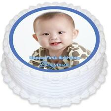 Round Edible Icing Cake Topper with your own Photo - PRE-CUT