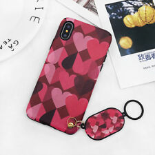 Fashion Soft Cute Ring Pendant Love Heart Phone Case For iphone 6 6S 7 8 Plus X