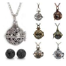 "Vintage Style Locket Pendant Fragrant Diffuser Aromatherapy Necklace 31.5"" Chain"