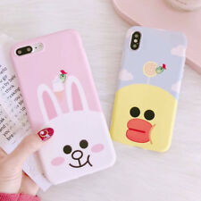 LOVELY Cartoon Rabbit Duck Animals Soft Phone Case For Iphone X 6 6S 7 8 Plus