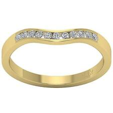 Natural Diamond Anniversary Wedding Ring VS1 F 0.25Ct Channel Set 14K Solid Gold