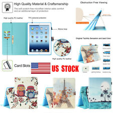 Folio Soft Leather Wallet Smart Case Cover Sleep / Wake Stand For iPad 2 3 4 US