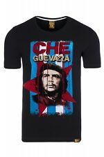 CHE GUEVARA SHIRT T-SHIRT SLIM Men's Shirt Jersey Crew Neck Black Rusty Neal