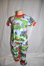 Baby Boy Boutique Farm Tractor Barn Farmer Pajama Outfit  6 9 12 18 24 M