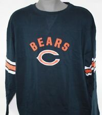 NEW Mens MAJESTIC Chicago Bears Navy Blue Stitched NFL Long Sleeve Tee T-Shirt