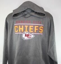NEW Mens NFL Team Apparel Kansas City Chiefs Poly Fleece Grey Football Hoodie