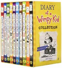 Diary of a Wimpy Kid Collection 10 Books Box Set, Jeff Kinney, New