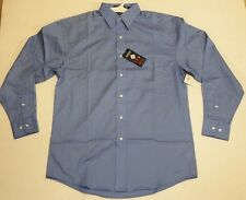 River's End Sky Blue Long Sleeve Men's Dress Shirt Size Small Wrinkle Free Twill