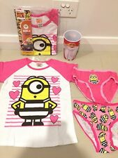 NEW DESPICABLE ME 3 Minions Licensed Tee top & 2 X UNDIES & CUP sz 6 FREE POST