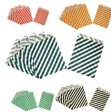 25X Stripes Food Paper Bags Popcorn Bags Baby Shower Wedding Decor Party Supplie