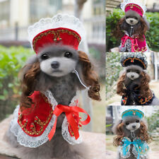 Pet Supplies Dog Lace Flower Dress Coakst Puppy Hat Princess Wig Costume Cosplay