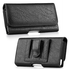 Leather Belt Clip Luxmo Pouch Holster Phone Holder Horizontal #23 Black