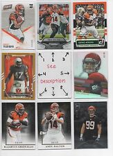 Cincinnati Bengals BLOWOUT Lot #3 - ROOKIES SERIAL #'d - See all my Bengals Lots