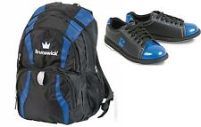 Womens Brunswick TZone Bowling Shoes Black/Blue Sizes 6-11 & Brunswick Back Pack