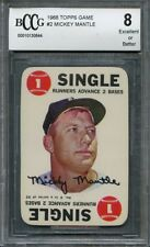 1968 topps game #2 MICKEY MANTLE new york yankees BGS BCCG 8