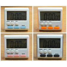 Magnetic Large LCD Digital Kitchen Timer Count-Down Up Clock 24 Hours Loud Alarm