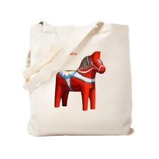 CafePress - Dala Horse Tote Bag With Flag On Reverse - Tote Bag
