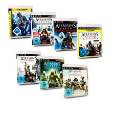 PS3 Game Assassins Creed 2 3 4 Black Flag Brotherhood Revelations Rogue