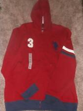 NEW MENS USPA POLO U.S. POLO ASSN. ZIP UP HOODED JACKET COAT RED SIZE L XL XXL