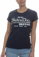 Superdry T-Shirt Ladies Vintage Logo Sequin Celestial Navy
