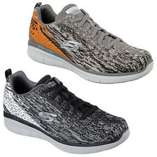 Skechers Synergy 2.0 Trainers Mens Memory Foam Knit Mesh Sports Fashion Shoes