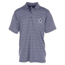 NEW MENS OFFICIAL NFL DALLAS COWBOYS LOGO GOLF STRIPED POLO SHIRT SIZE L M XL