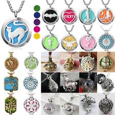 Aniaml Aromatherapy Perfume Essential Oil Diffuser Locket Pendant Necklace New