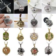 Perfume Essential Oil Aromatherapy Diffuser Necklace Hollow Fish Locket Pendant