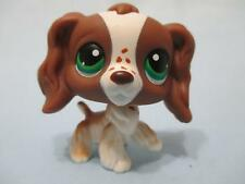 Littlest Pet Shop Brown White Cocker Spaniel DOG #156 Freckles 100% Authentic