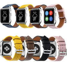 Genuine Leather Wrist Strap Apple Watch Band 38mm 42mm for iWatch Series 3/2/1