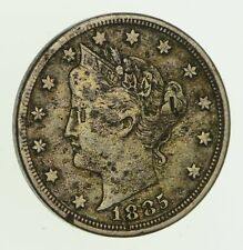 1885 Liberty V Nickel - With Cents - Circulated *5882