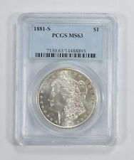 MS-63 1881-S Morgan Silver Dollar - Graded by PCGS *949